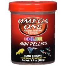 COLOR MINI PELLETS 100GR OMEGA ONE PARA PECES TROPICALES