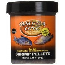 SHRIMP PELLETS 8MM SINKING 61GR OMEGA ONE PARA PECES TROPICALES