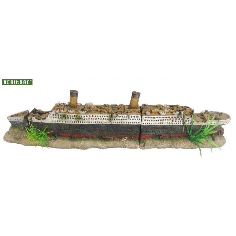TITANIC DECORACION PARA ACUARIOS 59X9.5X15 CM
