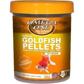 GOLDFISH PELLETS MEDIUM SINKING  4MM 119GR OMEGA ONE PARA PECES DE AGUA FRIA