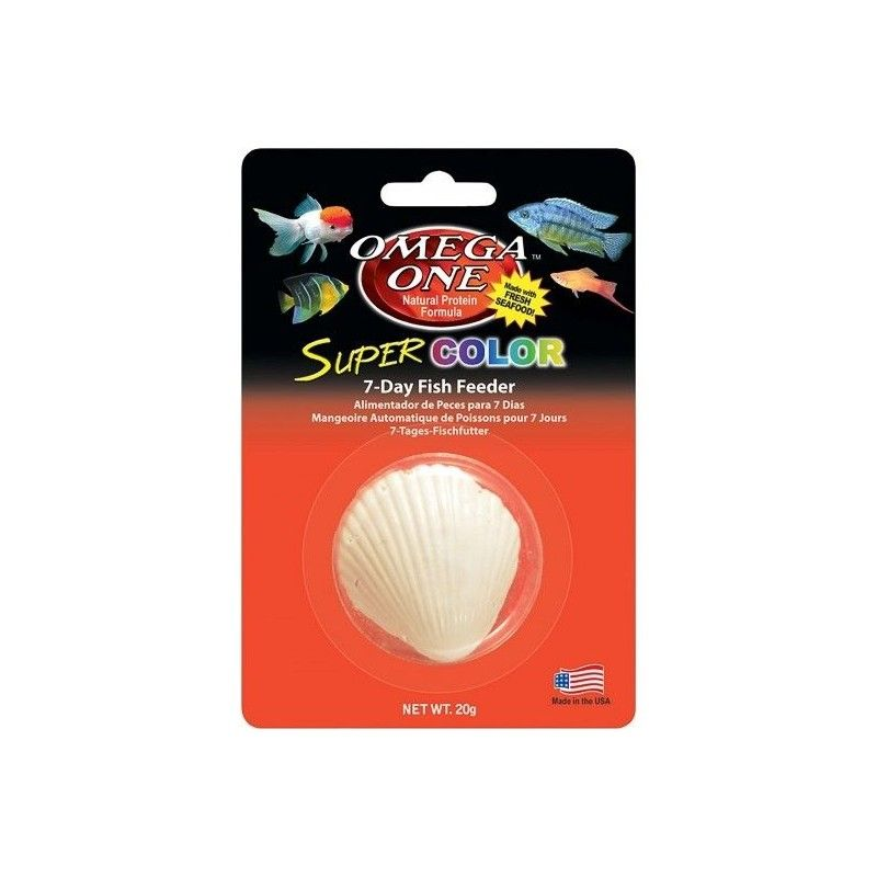 Alimento vacacional Super Color Fish Feeder Omega One 7dias 20 gramos