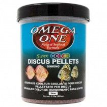 SUPER COLOR DISCUS PELLETS 119GR 2MM OMEGA ONE PARA PECES DISCO