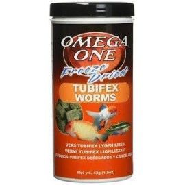 TUBIFEX WORMS 44GR OMEGA ONE PARA PECES