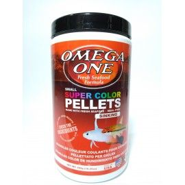 SUPER COLOR SMALL PELLETS 460GR 2MM SINKING OMEGA ONE PARA PECES TROPICALES