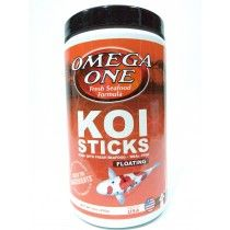 KOI STICKS 226GR FLOATING  OMEGA ONE PARA PECES DE AGUA FRIA