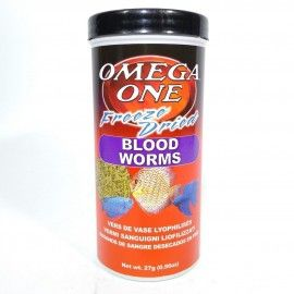 BLOOD WORMS 27GR OMEGA ONE PARA PECES