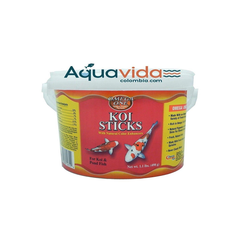 Koi sticks 498gr omega one para peces de agua fria for Peces de agua fria koi