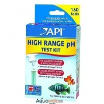 FRESHWATER/SALTWATER HIGH RANGE PH TEST KIT, TEST KIT OF 250 TESTS API