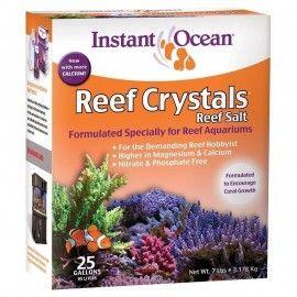 SAL REEF CRYSTAL 95 LITROS (25 GALONES) INSTANT OCEAN PARA ARRECIFE