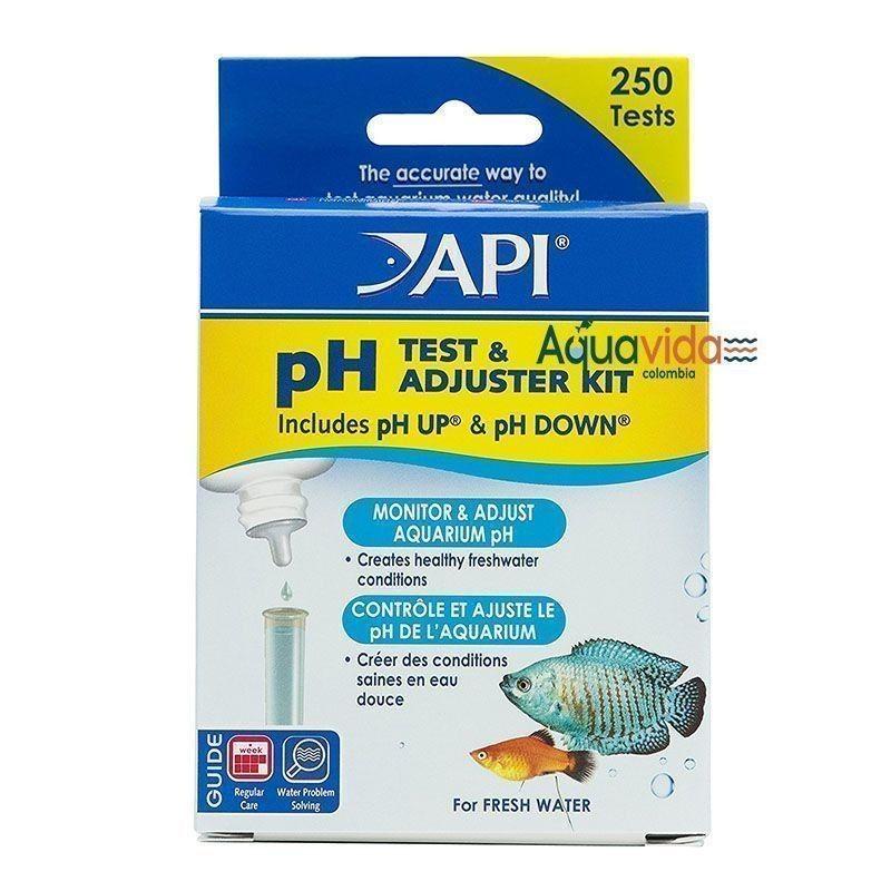 Kit de prueba de PH API mas ajustador para acuarios y estaques