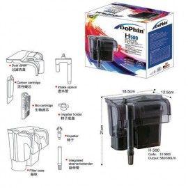 FILTRO EXTERIOR PARA ACUARIO H-500 (580 LTS X HORA) DOPHIN