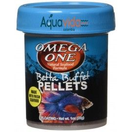 BETTA BUFFET PELLETS 28GR OMEGA ONE PARA PECES TROPICALES