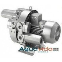 Turbina 5HP Doble Etapa Aire Industrial Alta Presion 41Kpa/ 12.3ps 1 Año de Garantía Blower