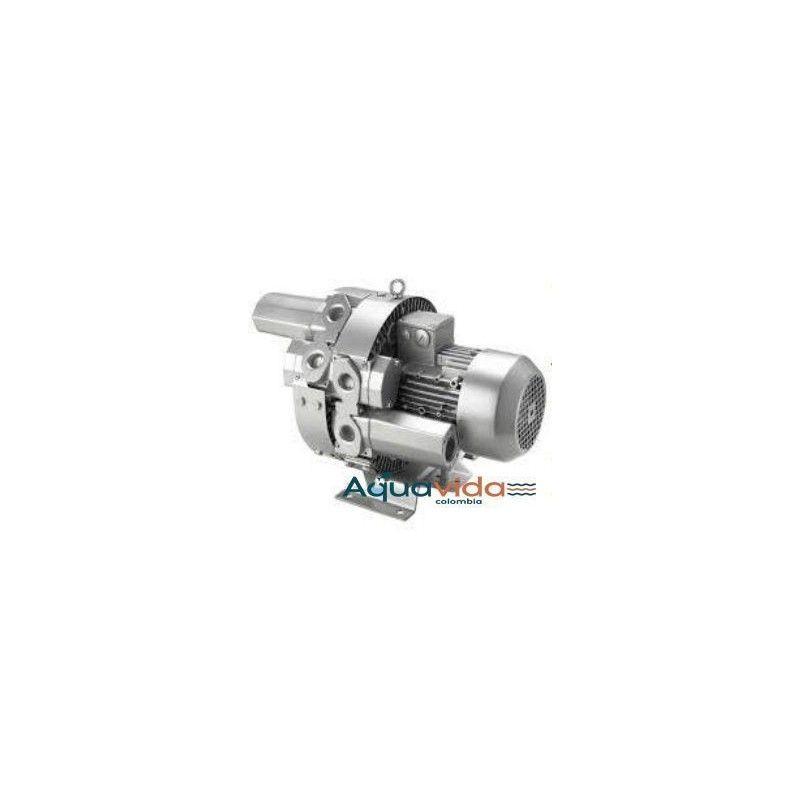 Turbina Doble Etapa Aire Industrial Alta Presion 41Kpa/ 12.3ps 1 Año de Garantía Blower
