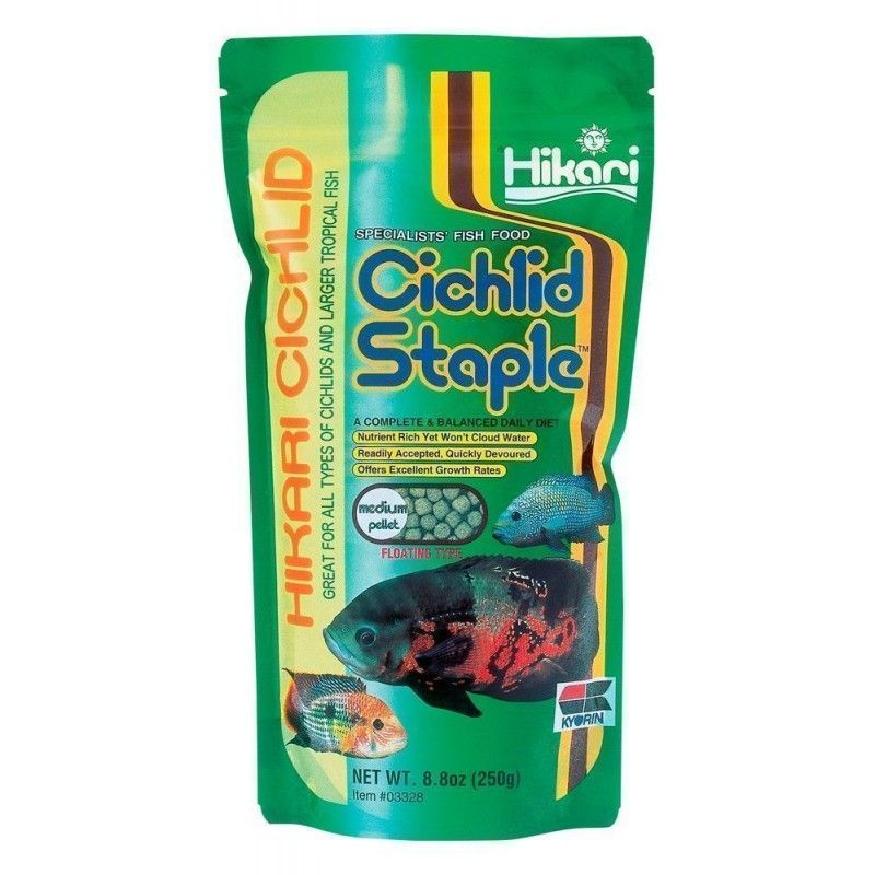 CICHLID STAPLE MEDIUM PELLET 8.8OZ