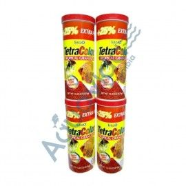 4 TARROS TETRA COLOR GRANULO 300+75GR EDICION ESPECIAL 375GR